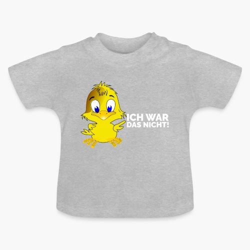 Ich war das nicht! Schriftzug weiss - Baby T-Shirt