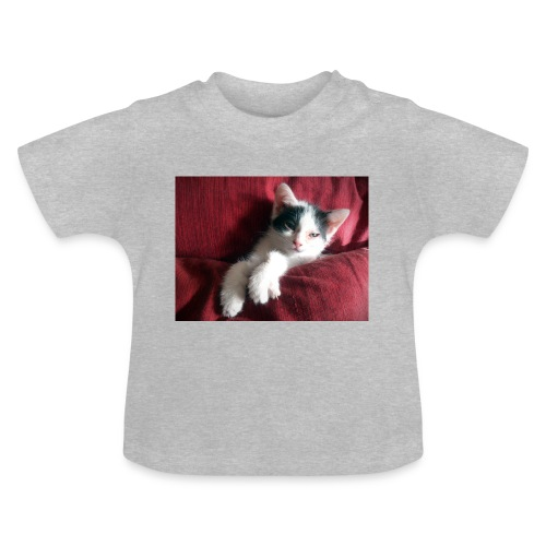 Katze in rot - Baby T-Shirt