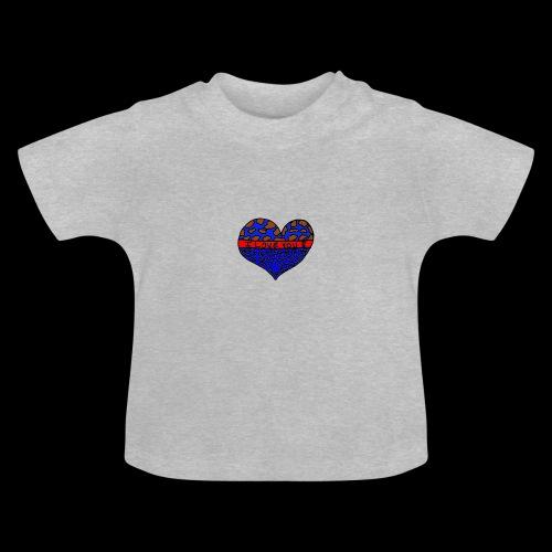 Herz Leben Welt Love you Blau - Baby T-Shirt