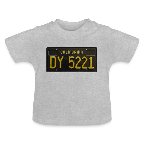 CALIFORNIA BLACK LICENCE PLATE - Baby T-Shirt