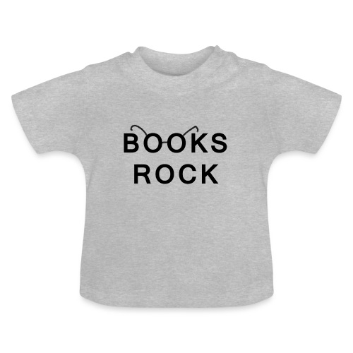 Books Rock Black - Baby T-Shirt