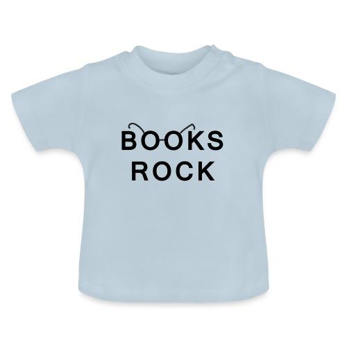 Books Rock Black - Baby T-Shirt