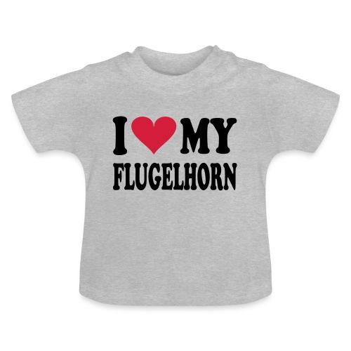 I LOVE MY FLUGELHORN - Baby-T-skjorte