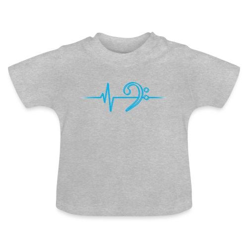 LowHeartBeatDouble cyan - Baby T-Shirt