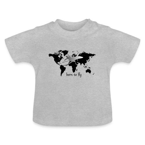 born to fly (Black Galaxy) - Baby T-Shirt