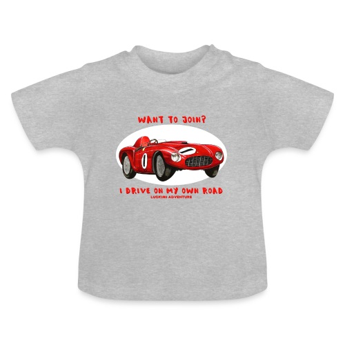 Happy Car Red - Baby-T-shirt
