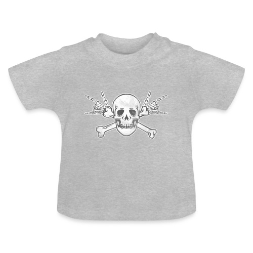 Skull with ILY Vintage - Baby T-Shirt