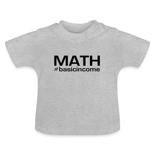 math-black - Baby T-shirt