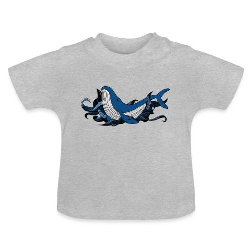 Doodle ink Whale - Maglietta per neonato