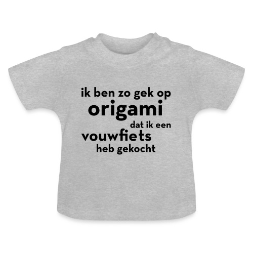 Origami - Vouwfiets - Baby T-shirt
