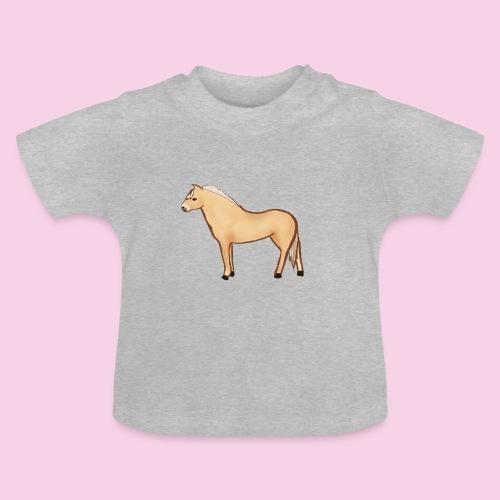 Fjordhäst stående - Baby-T-shirt