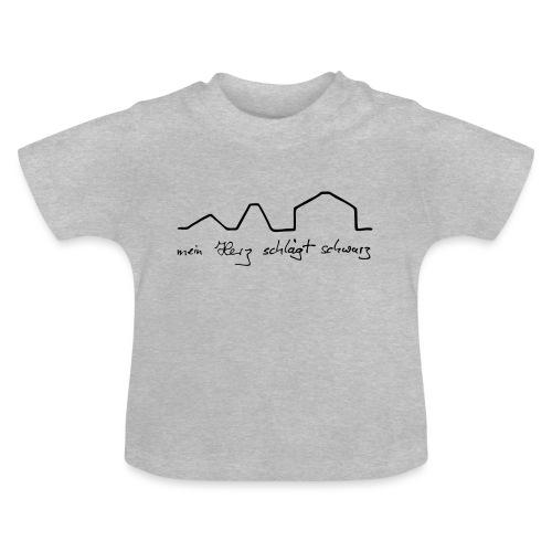 mein Herz schlägt schwarz - Baby T-Shirt