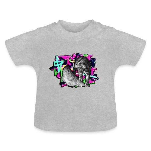 Leopard auf Bunt - Baby T-Shirt