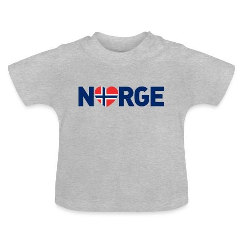 Elsker Norge - fra Det norske plagg - Baby-T-skjorte