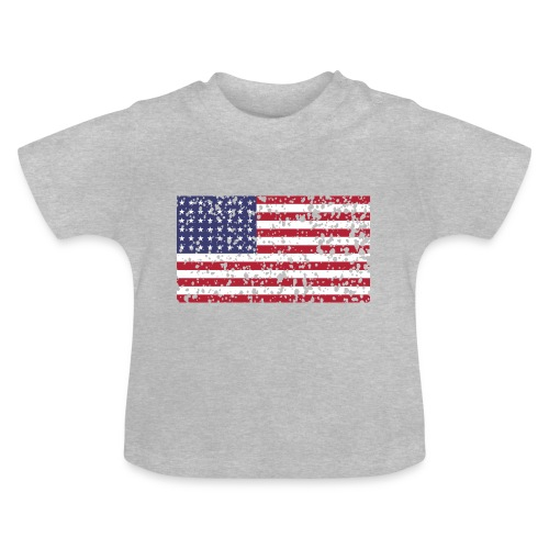AVM WWII Trashed 48 star flag in color D'Day - Baby T-shirt