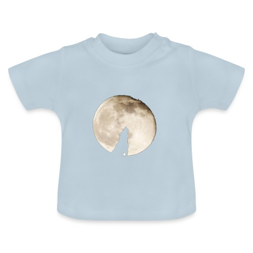 The wolf with the moon - T-shirt Bébé