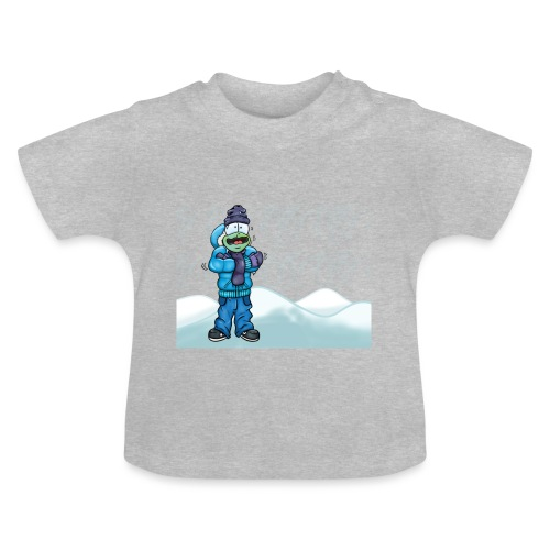 Freezing Turtle Snowboarder/Frierender Snowboarder - Baby T-Shirt