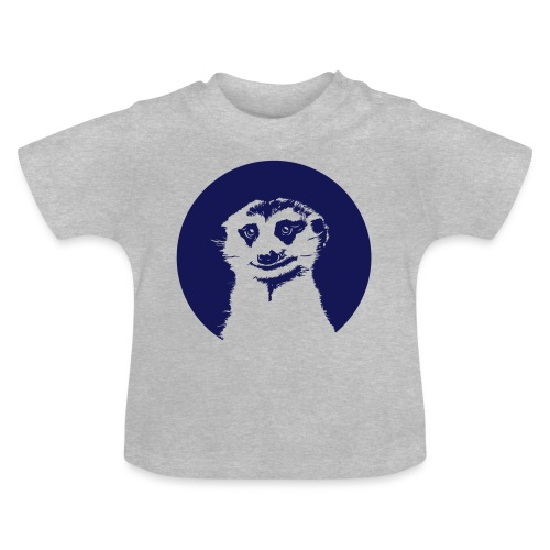 Stokstaartje groot rond - Baby T-shirt