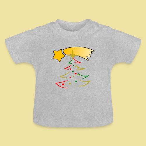 Weihnachtsbaum mit einer Sternschnuppe - Baby T-Shirt