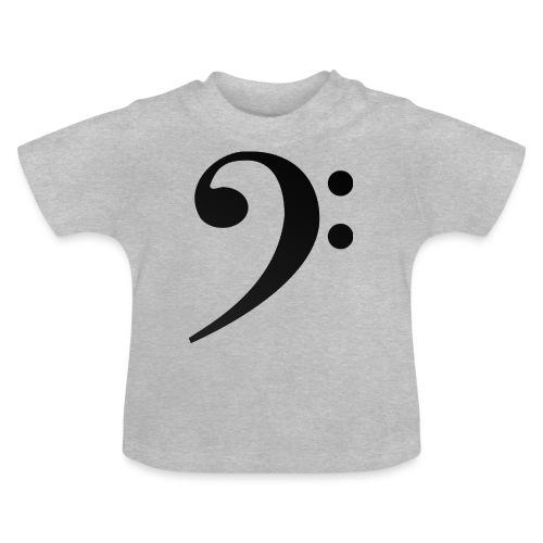 Silueta clave de fa en negro - Camiseta bebé
