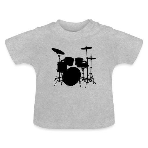 Bateria negro drums - Camiseta bebé