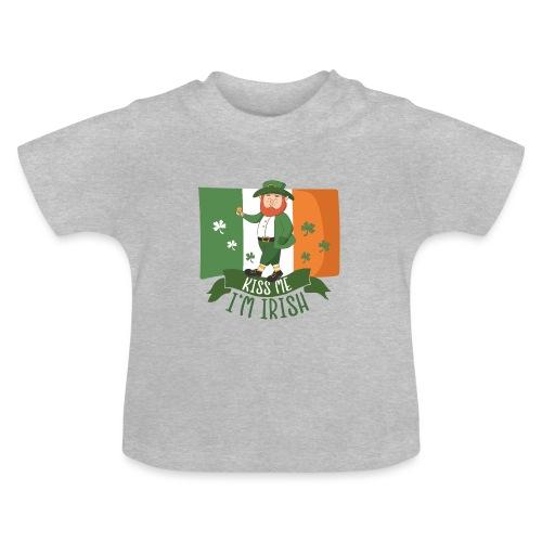 Küss mich, ich bin Ire - Glücklicher Kobold - Gold - Baby T-Shirt