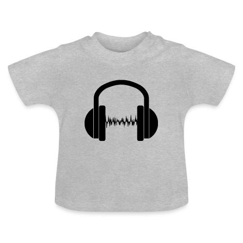 Silueta de unos cascos en negro - Camiseta bebé