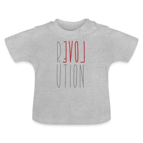 Love Peace Revolution - Liebe Frieden Statement - Baby T-Shirt