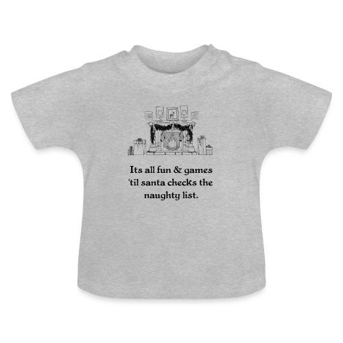 Weihnachten Christmas Ugly Kinder Bild Lustig - Baby T-Shirt