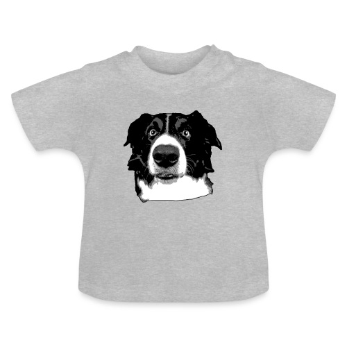Border Collie Face - Baby T-Shirt