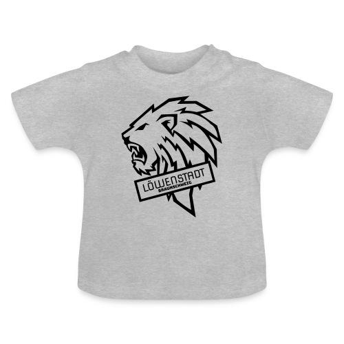 Löwenstadt Design 9 schwarz - Baby T-Shirt