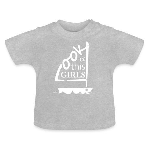 AndriesBik look thisGIRLS shirt witteletters - Baby T-shirt