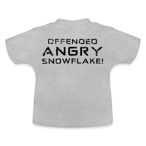Black Negant logo + OFFENDED ANGRY SNOWFLAKE! - Baby T-shirt