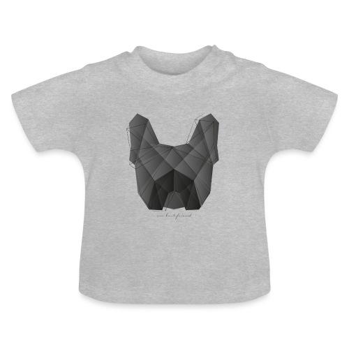 Geometric Frenchie black - Französische Bulldogge - Baby T-Shirt
