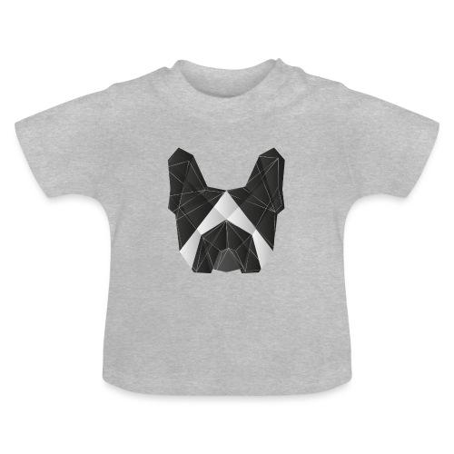 Geometric Frenchie black white - French Bulldog - Baby T-Shirt