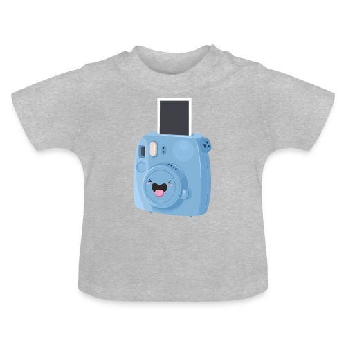 Appareil photo instantané bleu - T-shirt Bébé