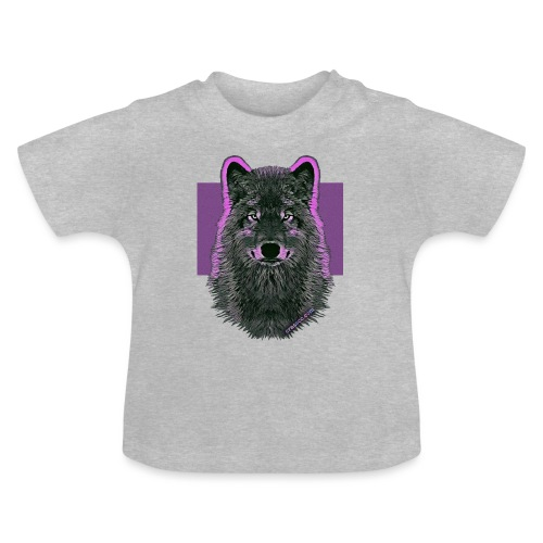 WOLF PINK IN LOVE - Baby T-Shirt