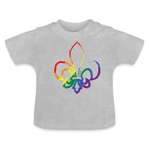 Pinselstrich Lilie Regebogenfahne - Baby T-Shirt