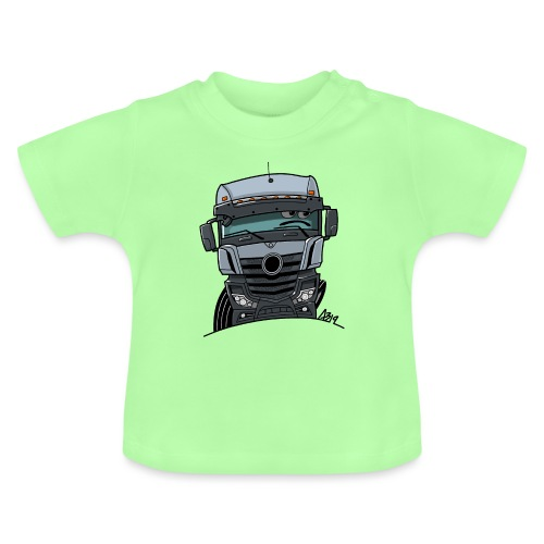 0807 M Truck grijs - Baby T-shirt