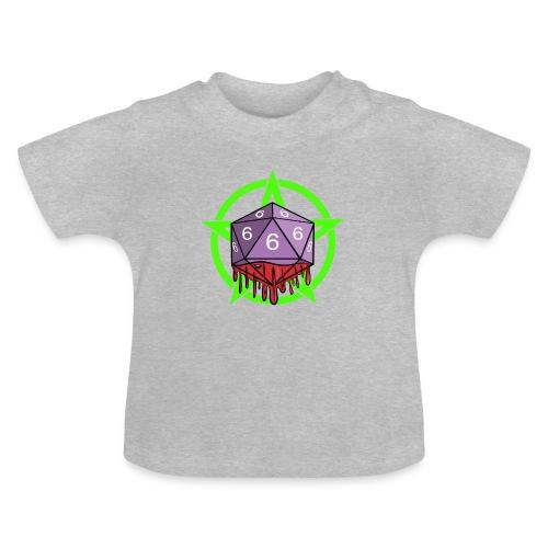 Würfel RPG Spiel Rollenspiele 666 mit Pentagramm - Baby T-Shirt