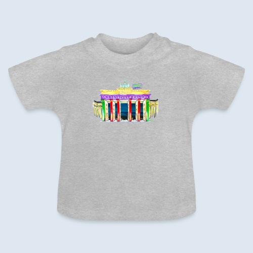 Brandenburger Tor Berlin PopArt ickeshop BachBilde - Baby T-Shirt