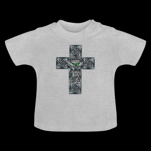 Wolf s Head Cross Silver - Baby T-Shirt
