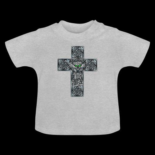 Wolf s Head Cross Silver - Baby T-Shirt
