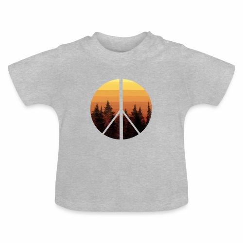peace and sun - T-shirt Bébé