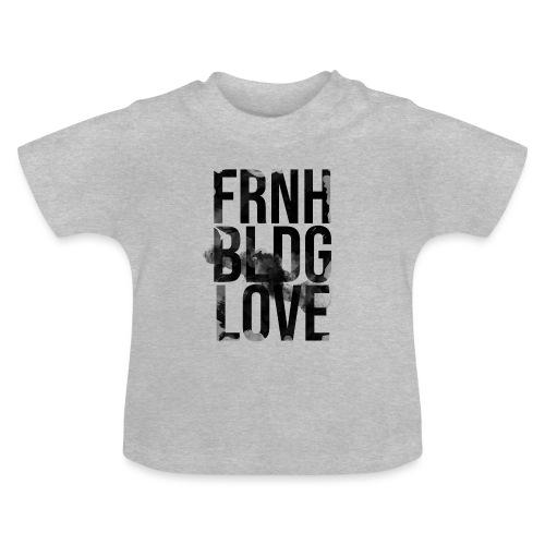 Französische Bulldogge Liebe wasserfarben - Baby T-Shirt