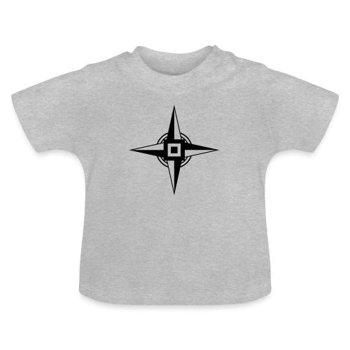 Erdenstern, Symbol, Vierzackiger Stern, Windrose - Baby T-Shirt
