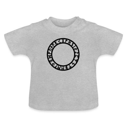 Runen Kreis, Magie Symbol, Futhark, Germanisch - Baby T-Shirt