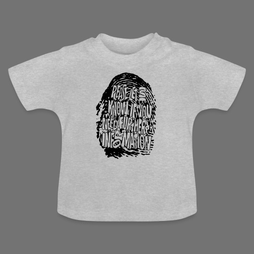 Fingerprint DNA (black) - Baby T-Shirt