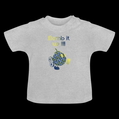Bomb It Up : Blue Power !!! - T-shirt Bébé