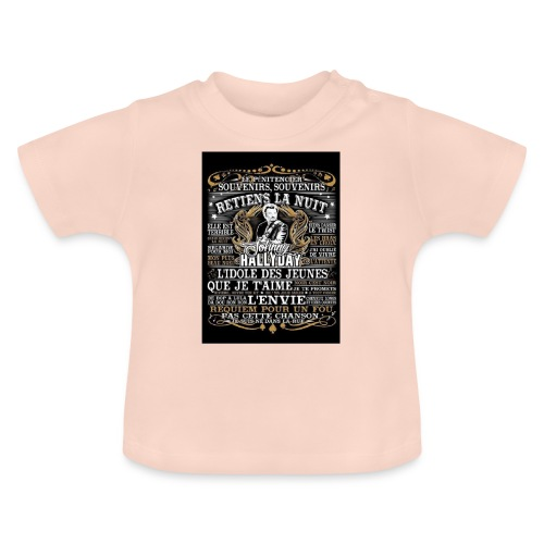 Johnny hallyday diamant peinture Superstar chanteu - T-shirt Bébé